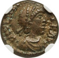 Ancients:Roman Imperial, Ancients: Majorian, Western Roman Empire (AD 457-461). AE4 or nummus (13mm, 1.53 gm, 11h). NGC AU 4/5 - 4/5....