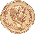 Ancients:Roman Imperial, Ancients: Hadrian (AD 117-138). AV aureus (20mm, 7.16 gm, 5h). NGC Choice VF 5/5 - 2/5, Fine Style, ex-jewelry, scratches....