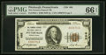 Pittsburgh, PA - $100 1929 Ty. 1 The Farmers Deposit NB Ch. # 685 PMG Gem Uncirculated 66 EPQ.<
