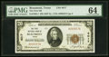 Beaumont, TX - $20 1929 Ty. 1 The First NB Ch. # 4017 PMG Choice Uncirculated 64
