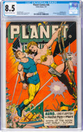 Golden Age (1938-1955):Science Fiction, Planet Comics #46 (Fiction House, 1947) CGC VF+ 8.5 Cream to off-white pages....
