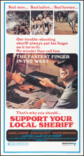 "Movie Posters:Western, Support Your Local Sheriff (United Artists, 1969). Folded, Very Fine. Three Sheet (41"" X 77""). Western.. ..."