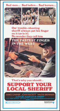 """Support Your Local Sheriff (United Artists, 1969). Folded, Very Fine. Three Sheet (41"""" X 77""""). Western"""