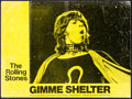"Movie Posters:Rock and Roll, Gimme Shelter & Other Lot (20th Century Fox, 1970). Overall: Fine/Very Fine. British Lobby Card (10.75"" X 14.25"") & Spanish ... (Total: 2 Items)"