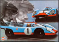 "Movie Posters:Sports, 1971 Gulf Porsche 917 Jo Siffert Memorial & Other Lot (Gulf, 1971). Rolled, Overall: Very Fine+. German Poster (33.5"" X 23.5..."