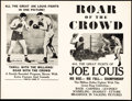 """Movie Posters:Sports, Roar of the Crowd (Norman, 1953). Overall: Very Fine. Heralds (6) (12"""" X 9.25""""). Sports.. ... (Total: 6 Items)"""