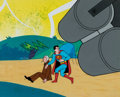 Animation Art:Production Cel, The New Adventures of Superman Production Cel Setup (Filmation, c. 1966-70)....
