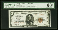 Luling, TX - $5 1929 Ty. 2 The First NB Ch. # 13919 PMG Gem Uncirculated 66 EPQ