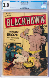 Blackhawk #20 (Quality, 1948) CGC GD/VG 3.0 Off-white pages