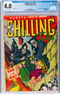 Golden Age (1938-1955):Horror, Chilling Tales #16 (Youthful Magazines, 1953) CGC VG 4.0 Off-white to white pages....