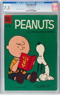 Silver Age (1956-1969):Humor, Four Color #969 Peanuts (Dell, 1959) CGC VF- 7.5 Off-white to white pages....