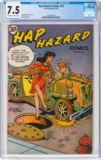 Hap Hazard Comics #13 (Ace, 1947) CGC VF- 7.5 Off-white to white pages