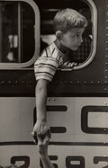 Photographs:Gelatin Silver, Rae Russel (American, 1925-2008). Ronnie L. holds his mother'shand before leaving for camp, 1954. Gel...