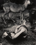 Photographs:Gelatin Silver, Michael Garlington (American, 20th Century). Untitled (Girl Folded Over). Gelatin silver. 23 x 19 inches (58.4 x 48.3 cm...