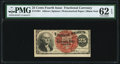 Fractional Currency:Fourth Issue, Fr. 1301 25¢ Fourth Issue PMG Uncirculated 62 EPQ.. ...
