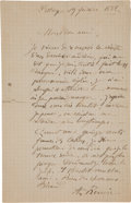 Books:Manuscripts, Pierre-Auguste Renoir. Autograph Letter Signed Twice. . ...