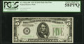 Fr. 1956-B* $5 1934 Dark Green Seal Mule Federal Reserve Star Note. PCGS Choice About New 58PPQ