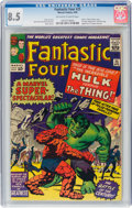 Silver Age (1956-1969):Superhero, Fantastic Four #25 (Marvel, 1964) CGC VF+ 8.5 Off-white to white pages....