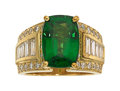 Estate Jewelry:Rings, Tsavorite Garnet, Diamond, Gold Ring  The ring...