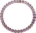 Estate Jewelry:Necklaces, Amethyst, Diamond, Gold Necklace The necklace ...