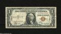 Small Size:World War II Emergency Notes, Fr. 2300 $1 1935-A Hawaii Silver Certificate with scarce F-C block. Fine-Very Fine....