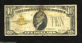 Small Size:Gold Certificates, Fr. 2400 $10 1928 Gold Certificate. Very Good....