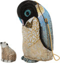Luxury Accessories:Bags, Judith Leiber Set of Two: Crystal Penguin Minaudiere & Polar Bear Pillbox. Condition: 1. See Extended Condition Report... (Total: 2 )