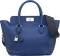 Luxury Accessories:Bags, Hermès 26cm Blue Saphir Swift Leather Toolbox Bag with Pa...