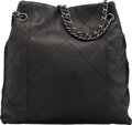 """Luxury Accessories:Bags, Chanel Black Quilted Calfskin Leather Tote Bag. Condition: 2. 12"""" Width x 12"""" Height x 4"""" Depth. ..."""