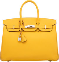 Hermès 35cm Soleil Epsom Leather Birkin Bag with Palladium Hardware M Square, 2009 Condition: 2</