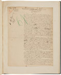 "Books:Manuscripts, J. K. Huysmans. Autograph Manuscript Signed. ""J. K. Huysmans.""..."