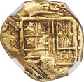 Colombia, Colombia: Philip IV gold Cob 2 Escudos ND (1653-1660)-R XF45 NGC,...