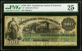 Confederate Notes:1861 Issues, T3 $100 1861 PF-2 Cr. 3 PMG Very Fine 25.. ...