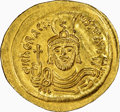 Ancients:Byzantine, Ancients: Heraclius (AD 610-641). AV solidus (23mm, 4.47 gm, 7h). NGC Choice AU 4/5 - 3/5, die shift....