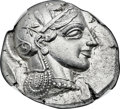 Ancients:Greek, Ancients: ATTICA. Athens. Ca. 455-440 BC. AR tetradrachm (27mm, 17.19 gm, 3h). NGC MS★ 4/5 - 5/5....