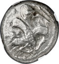 Ancients:Greek, Ancients: CILICIA. Ura. Ca. mid-5th century BC. AR stater (20mm, 10.13 gm, 1h). NGC Choice VF 4/5 - 3/5....