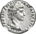 Ancients:Roman Imperial, Ancients: Augustus (27 BC-AD 14). AR denarius (19mm, 3.86 gm, 2h). NGC MS 5/5 - 4/5....