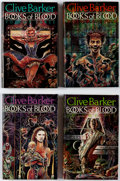 Books:Hardcover, Clive Barker Books of Blood Volumes 3-6 Signed Group (Weidenfield & Nicolson, 1984-85).... (Total: 4 Items)