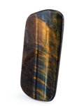 Lapidary Art:Carvings, Tiger's-Eye Slab. South Africa. 4.47 x 2.11 x 0.24 inches (11.36 x 5.37 x 0.60 cm). ...