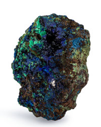 Azurite China 4.68 x 3.39 x 2.99 inches (11.88 x 8.60 x 7.60 cm)
