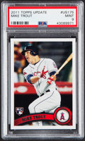 Baseball Cards:Singles (1970-Now), 2011 Topps Update Mike Trout #US175 PSA Mint 9. ...
