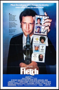 """Fletch & Other Lot (Universal, 1985). Folded & Rolled, Very Fine-. One Sheets (2) (27"""" X 41"""" & 27&..."""