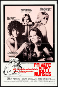 """Private Duty Nurses & Other Lot (New World, 1971). Folded, Very Fine-. One Sheets (2) (27"""" X 41""""). Sexploi..."""