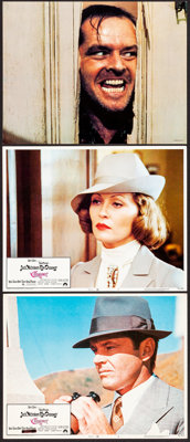 """Chinatown & Other Lot (Paramount, 1974). Overall: Very Fine+. Lobby Cards (2) & Deluxe Lobby Card (11"""" X 14..."""