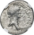 Ancients:Roman Republic, Ancients: Cleopatra VII of Egypt and Marc Antony, rulers of the East (37-31 BC). AR denarius (18mm, 3.45 gm, 1h). NGC VF 3/5 - 2/5....
