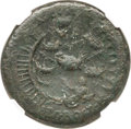 Ancients:Roman Imperial, Ancients: Nero (AD 54-68). AE sestertius (35mm, 28.54 gm, 6h). NGC Fine 5/5 - 2/5....