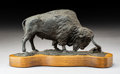 Sculpture, L. P. McCann (American, 20th Century). Buffalo. Bronze with brown patina. 4-1/2 inches (11.4 cm) high on a 1 inch (2.5 c...