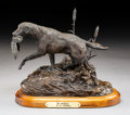 Sculpture, Mike Capser (American, b. 1952). The Retrieve, 1980. Bronze with brown patina. 6-1/4 inches (15.9 cm) high on a 1 inch (...