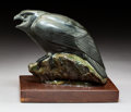 Sculpture, Tony Angell (American, b. 1940). Kestrel. Bronze with black and green patina. 6 inches (15.2 cm) high on a 1 inch (2.5 c...