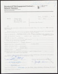 """Autographs:Letters, 1979 Willie Mays Signed Saturday Night Live """"Chico Escuela""""Contract...."""